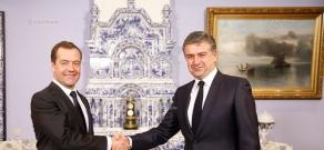 Meeting of Armenian PM Karen Karapetyan with Russian PM Dmitry Medvedev in Moscow