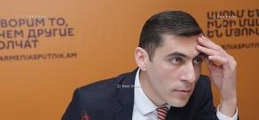 Press conference by Deputy Director of MES Meteorological Center Gagik Surenyan