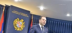 Press conference by Armenian Minister of Defense Vigen Sargsyan