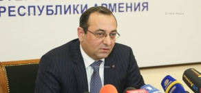 Press conference of Armenia's Economy Minister Artsvik Minasyan