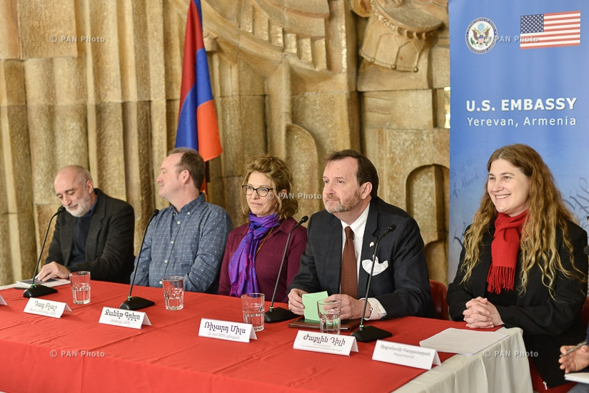 "Press conference dedicated to the beginning of American Film  Showcase ""Mosaic of Human Stories"""