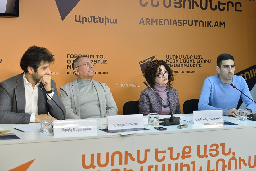 Press conference of conductor Sergey Smbatyan, composer Vardan Adzhemyan and Head of Contemporary Art Department of RA Ministry of Culture Armenuhi Ghazaryan
