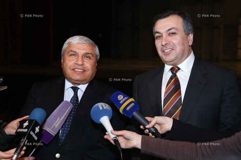 Electronic panel of surtitles launched at Yerevan Opera Theatre with the participation of Culture Minister Armen Amiryan