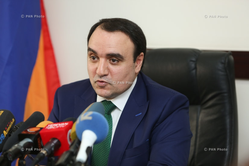 Press conference by 'Armenian Renaissance' party leader Artur Baghdasaryan