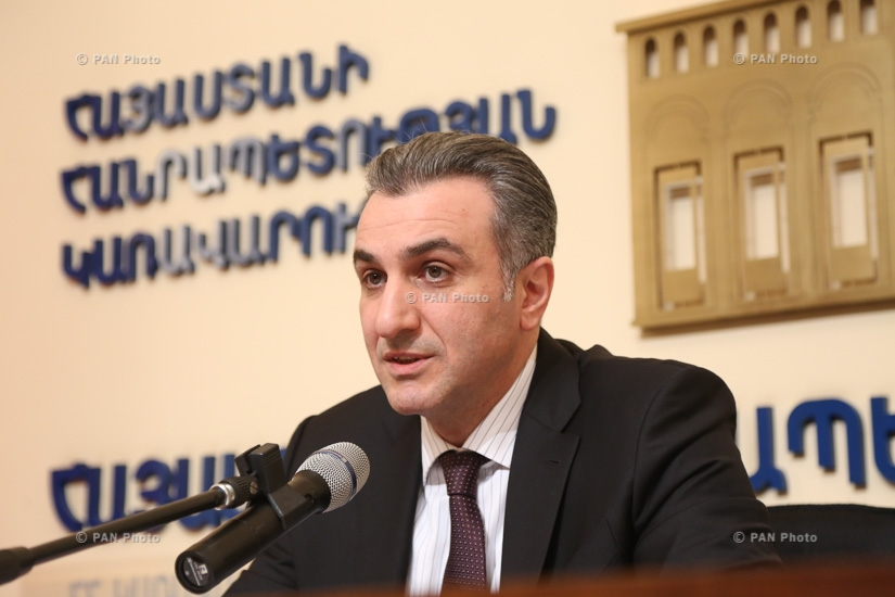 Press conference by Armenian Minister of Agriculture Ignati Arakelyan
