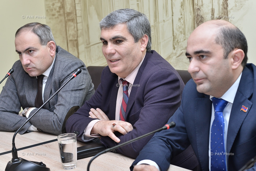 Pre-election meeting with the leaders of Yelk (Exit) Alliance