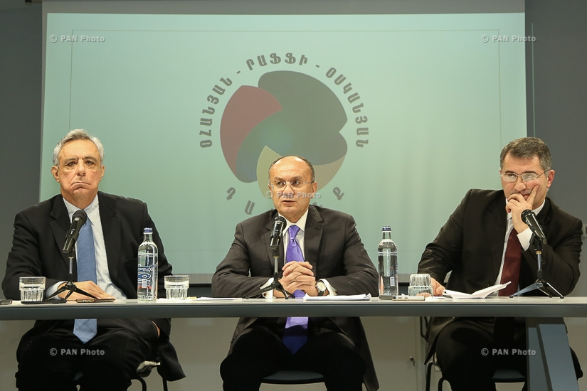 Press conference by Seyran Ohanyan, Vardan Oskanian and Armen Martirosyan