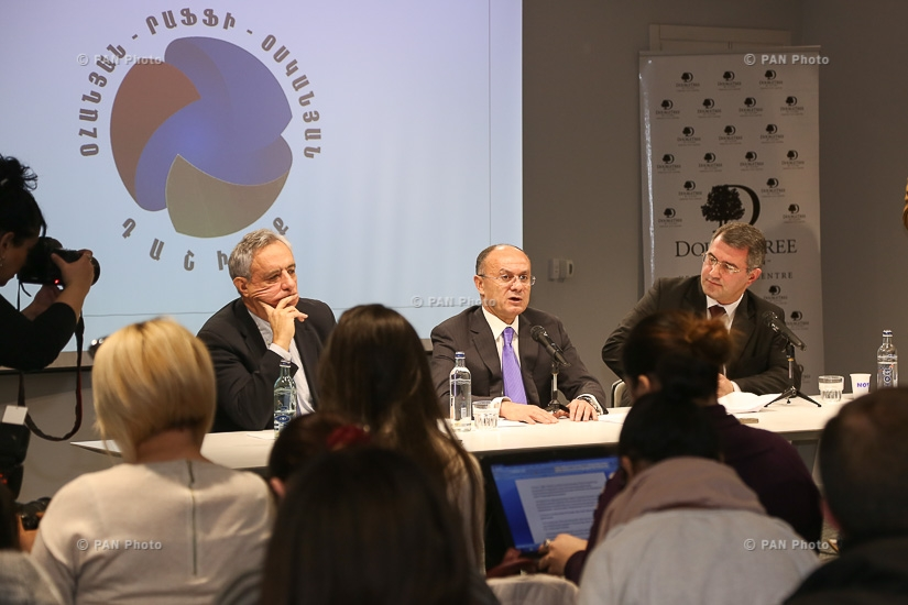 Press conference by Seyran Ohanyan, Vardan Oskanian and Armen Martirosyan