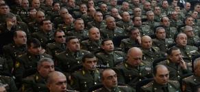 Встреча президента Армении Сержа Саргсяна с участниками оперативного собрания руководящего состава ВС РА