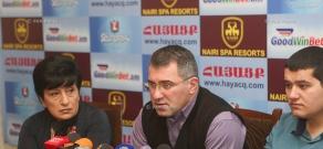 Пресс-конференция вице-председателя партии «Наследие» Армена Мартиросяна