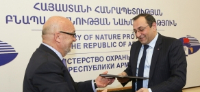The signing of memorandum between the Ministry of Nature  Protection and
