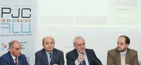 Press conference by Lernik Aleksanyan, Aram Manukyan, Artak Sargyan, Styopa Safaryan and Arayik Harutyunyan