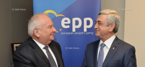 Armenian President Serzh Sargsyan met with the President of the EPP Joseph Dole in Brussels