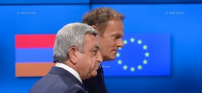 Armenian President Serzh Sargsyan met with the President of the European Council Donald Tusk in Brussels