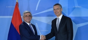 Armenian President Serzh Sargsyan met with the NATO Secretary General Jens Stoltenberg in Brussels