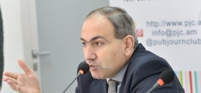 Press conference of MP, 'Civil Agreement' party member and Yelk Alliance candidate Nikol Pashinyan
