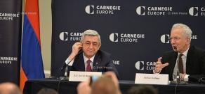 Armenian President Serzh Sargsyan visits Carnegie Endowment for International Peace in Brussels