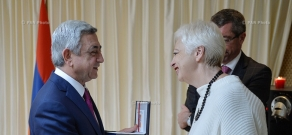 In Brussels Armenian President Serzh Sargsyan met with a group of members of the European Parliament