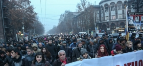 Protest march of Armenian National Congress (ANC) and People's Party of Armenia dedicated to the memory of the 1 March 2008 tragedy victims