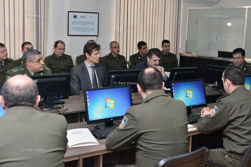Открытие отроментированного и переоснащенного кабинета административного здания пограничных войск СНБ Армении