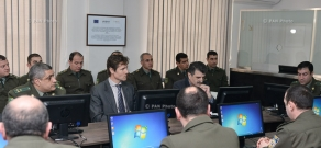 Opening of refurbished document security training room at the  Headquarters of the Border Troops of Armenia