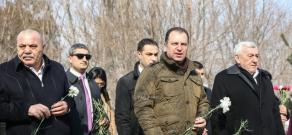 Commemoration of slain defense minister Vazgen Sargsyan at Yerablur Military Pantheon