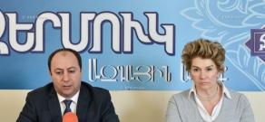 Press conference of architect Anahit Tarkhanyan and Varuzhan Gabrielyan