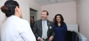 US Ambassador to Armenia Richard M. Mills and USAID Armenia Mission Director Deborah Grieser visit Armenian-American Wellness Center on the occasion of International Women's Day