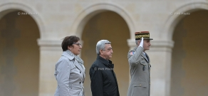 Official welcoming ceremony for Armenian president Serzh Sargsyan in France