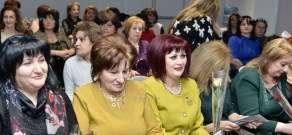 'Armenian Renaissance' party leader Artur Baghdasaryan meets with women on the occasion of International Women's Day