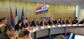 In Paris Armenian President met with members of Mouvement des entreprises de France Organization