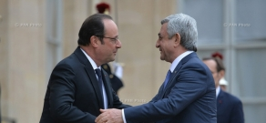 Meeting of Armenian President Serzh Sargsyan and French President Francois Hollande and Armenian-French high-level talks in Paris