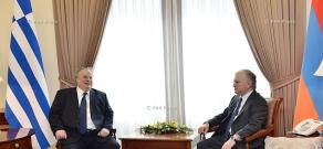 Armenian Foreign Minister Edward Nalbandian receives Greek Foreign Minister Nikos Kotzias