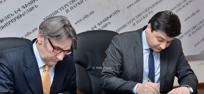 Signing of memorandum between RA Ministry of Education and Science and Armenian branch of Konrad Adenauer Stiftung/Foundation (KAS)