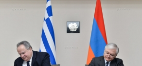 Joint press conference of Armenian Foreign Minister Edward Nalbandian and Greek Foreign Minister Nikos Kotzias