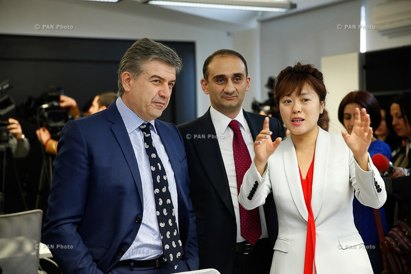 Armenian PM Karen Karapetyan attends opening of SRC monitoring center