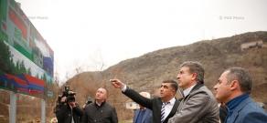 Armenian PM Karen Karapetyan's working visit to Syunik Province. Day 2