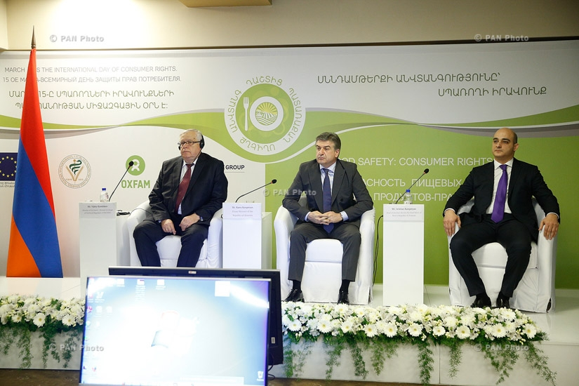 "Armenian Prime Minister Karen Karapetyan attends opening of ""Food Safety: Consumer Rights"" conference"