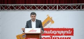 RPA campaign meetings in Yerevan's Avan district