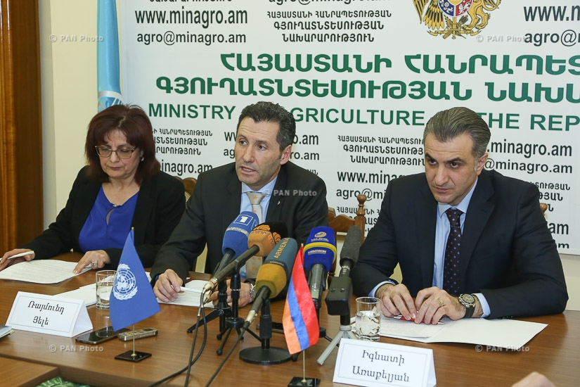 Press conference by Armenian Minister of Agriculture Ignati Arakelyan and FAO Representative in Armenia Raimund Jehle