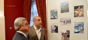 Armenian President Serzh Sargsyan met with Armenian doctors and students residing in Moscow
