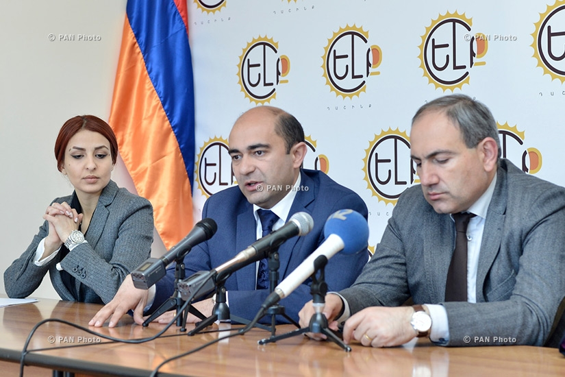 Press conference of MPs from Yelk (Exit) alliance Nikol Pashinyan and Edmon Marukyan