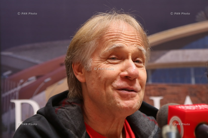 Press conference of French pianist Richard Clayderman in Yerevan