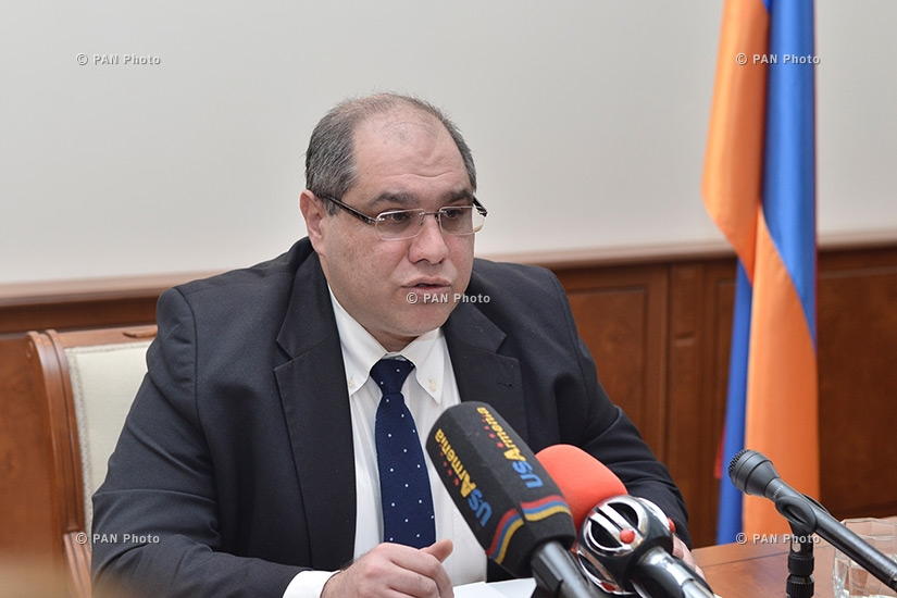 Press conference of Deputy Minister of Finance of Armenia Karen Tamazyan