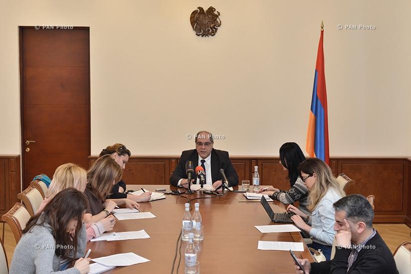Press conference of Deputy Minister of Finance of Armenia Karen Tamazyan