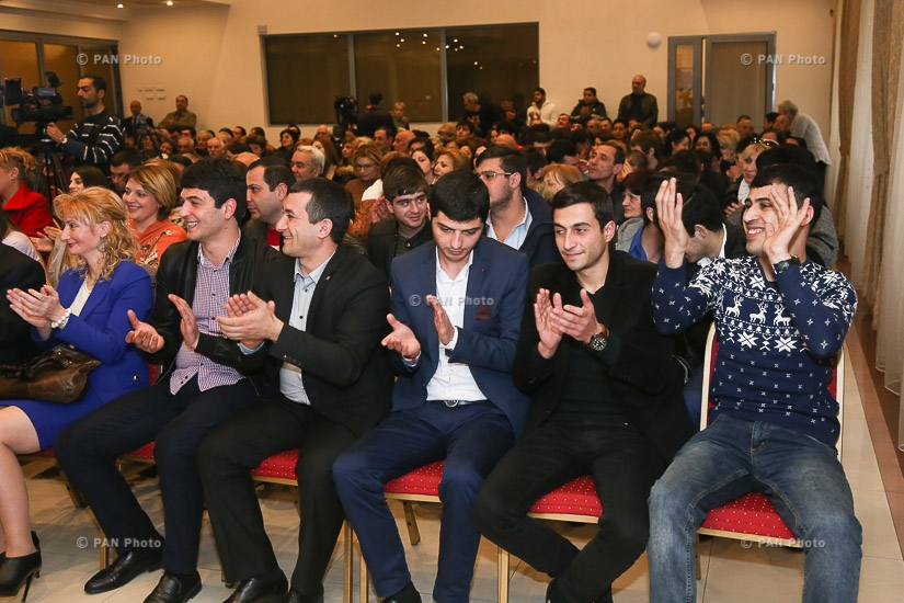 'Armenian Renaissance' party's campaign meeting in Yerevan