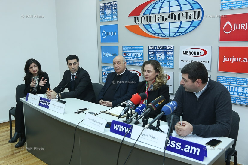 Press conference of Zaruhi Zeytuntsyan, Volodya Arushanyan, Aram Bleyan and Gevorg Orbelyan