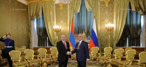 In the framework of his official visit to Russia, Armenian President Serzh Sargsyan met with RF President Vladimir Putin