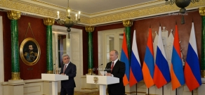President of Armenia Serzh Sargsyan and of Russia Vladimir Putin recapped the results of negotiations