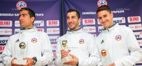 Award ceremony for Armenia's 2016 coach and Footballers of the Year
